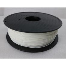 White Color 3D Printer Filament PLA 1.75mm 1kg Plastic Rubber Consumables Material