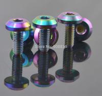 10Pcs M6X15mm Rainbow ColorBike motorcycle car titanium screws Bolts