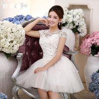 The bride wedding dress formal dress bride evening dress evening dress wedding bridesmaid dress 2014 slim short design