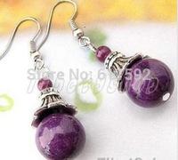 Jewellery Tibet Silver purple jade Earring