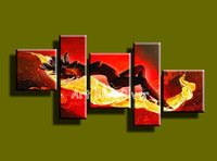 large abstract modern hot sexy photo 5 piece canvas wall art hand painted oil painting for home decor living room Bedroom wall