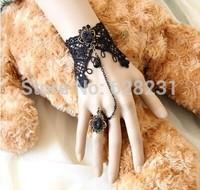 10pcs/lot Elf Lace bracelet with one chain ring Bride wrist flower  bridesmaid wrist flower
