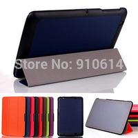 100pcs/lot Slim Leather Case Stand Skin Cover Protective Shell For LG G Tablet 10.1 V700 LG-V700 10.1inch Tablet PC DHL