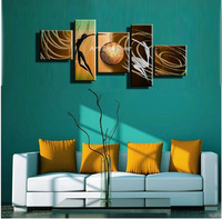 large abstract modern naked women  5 piece canvas wall art hand painted oil painting for home decor living room Bedroom wall