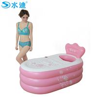 Water super large child bathtub adult inflatable bathtub folding bucket bath thickening cotton-padded