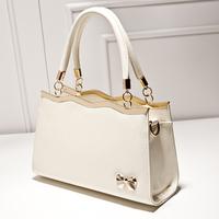 Vintage Simple women messenger bags Women's handbag  autumn fashion bow handbags  ladies crossbody bag bolsas