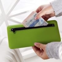 Free shipping BF050 Multifunctional zipper passport documents guarantee  rectangular bag card package card bag 21*10cm