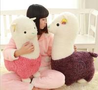 Free shipping Alpaca plush toy animal doll mud Maji Xiang Yang queen pillow lovely wedding birthday girl Christmas gifts