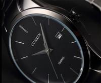 CURREN Quartz Watch Military Black Stainless Steel Date Analog Men'S Army Sport Watches Men Luxury Brand Relogio Masculino AB040