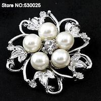 Free shipping wholesale quality fashion pearl jewelry forwomen zircon brooch