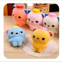 5pcs /lot Mini small  hot-water bags cute cartoon bear plush hand warmers hot water bottle