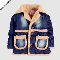 NEW winter Children clothing outwear baby  girls coats kids boys jean jackets fleece coat Free Shipping