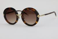 Fashion wild Unisex Sunglasses Z0520  Round frame Retro style Leopard colors (tortoiseshell) Elegant Cute