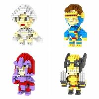 32pcs/lot DHL Free LOZ X-men Diamond Blocks Builing Bricks Educational DIY Set Toys for Children Gift Wolverine Storm Magneto