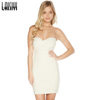 Summer Women Dress Party Sexy Fashion Sheath Sleeveless Strapless Off The Shoulder Back Zipper Package Hip White Dresses DR1042