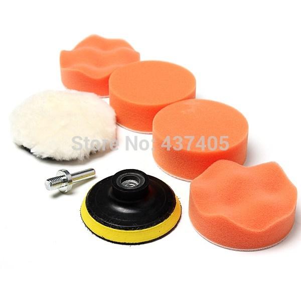 1Set Polishing Buffing Pad Kit for Car Polishing with Drill Adapter Buffing Pad Kit Auto Truck Polisher Tools Supplies(China (Mainland))