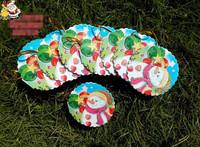 Christmas Tree Pendant Decoration Xmas Ornaments Greeting Card Wishing Cards Hot Sale Length 5cm Wirth 6cm 20pcs/lot 6435406