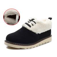2014 Winter Men Really Genuine Leather Cotton Velvet Matte Leather Shoes Korean Version Of Casual Men'S Shoes Warm Boots Logging