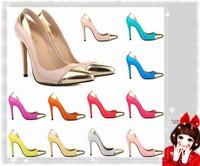 Vintage Sexy Red Bottom Pointed Toe High Heels Women Pumps Shoes 2014 Brand New Design Less Platform Pumps Tip  LDM106