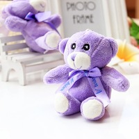 6pcs/lot plush purple plush teddy bear doll  lavender bear birthday gift  for boys and girls