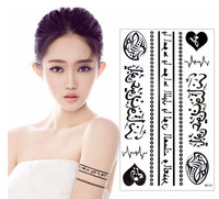 NEW arrived Waterproof tattoo sticker black fashion RF-64 series