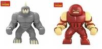 Decool 0191/0190  Building Blocks Super Heroes The Avengers  Action figures Minifigures  Toys Juggernaut  Lazy  Rhino Figures