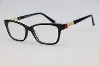 Black Plate Frame Unisex plain mirror 4102 Optical frames Elegant Cute inlay Rhinestone Myopia Fashion wild