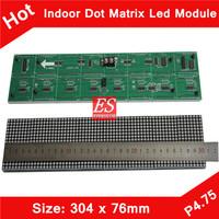 Express Indoor F3.75 P4.75 Single Red Color LED Dot Matrix Module 304*76mm 64*16 Pixels for LED Traffic Sign, Advertising