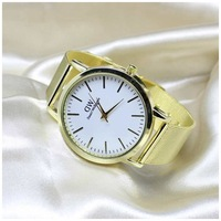 Golden New Clock gold Fashion Men watch full gold Stainless Steel Quartz watches Wrist Watch Gold casual watch men relogio male