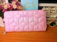 Fashion design thread embroidery women clutch purse wallet ms 2015 luxurious lady long purse handbag zip Female bag