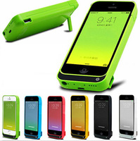 1pcs/lot High Capacity 4200mAh External battery Backup power bank cover mobile phone case pack for iphone 5 5S 5C Colorful