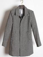 THOM BROW Houndstooth Collar Slim Long woolen coat