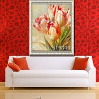 DIY Diamond Painting Needlework Novelty 3d Square Full Diamond Embroidery Pattern Flower Tulip Painting 25*31 decoration room