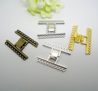24set Jewelry Accessories Good Quality Open Magnetic Clasps 10-Strands Four Plated For Jewelry Making(buyer can choose color)