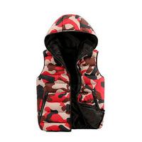 2014 winter men's vest down jacket hooded cotton Camouflage vest fashion black men jacket sleeveless Plus Size M-XXXL #LJF78