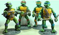 New Teenage Mutant Ninja Turtles Movie Version 16cm Action Figure TMNT 4pcs/set Collection Toys with base