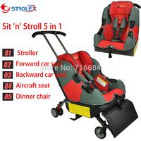Canada strolex 5 in1 Sit 'n' Stroll infant travel combine Carseat/stroller/flight seat/booster/rocker 5-22 LBS DHL/EMS free ship