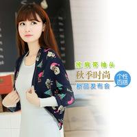 2014 NEW fashion Korean female Long-sleeved wild Short coats shawl winter Outerwear Coats jacket shawl