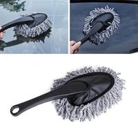 Multi functional Car Duster Cleaning Dirt Dust Clean Brush Dusting Tool Mop Gray Car Cleaning Brushes
