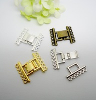 32set Jewelry Accessories Good Quality Open Magnetic Clasps 6-Strands Four Plated For Jewelry Making(buyer can choose color)