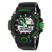 Free Send With Tracking Number, Green Chronograph Digital Men Boy Lady Student Waterproof Sports Unisex Wristwatch K36G