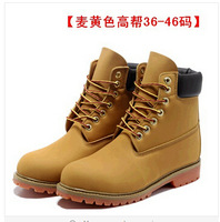 Hot Sell!!! Unisex leather waterproof snow boots men and women Winter outdoor mountaineering boots 6 colors