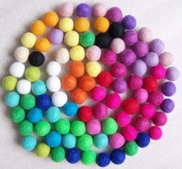 Free Shipping 500pcs 15mm 2015 New Fashion Mixed Color Handmade Yarn Wool Felt Dryer Balls for Rugs Jewelry Beads Christmas DIY