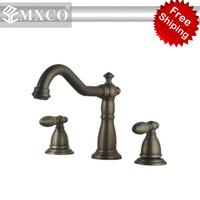 FREE SHIPPING antique copper plated basin mixer bathtub mixer  faucet bathroom faucet classical faucet M14F