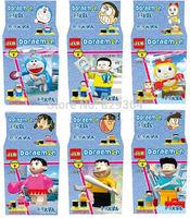 SY Doraemon Minifigures Building block sets Toys for boys lego compatible 6pcs/lot educational toys for children