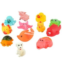 Mixed Different Animal Bath Toy Bath Washing Sets Children Education Baby Water rubber Toys for bathroom