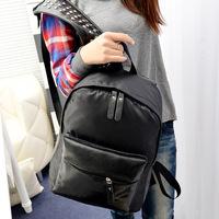 PU Leather Black Fashion Punk Unisex Bolsas Mochilas Femininas Women Rivet School Backpack Casual Preppy Laptop Backpacks