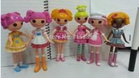 6pcs/lot 15cm MGA Lalaloopsy Doll button eye toys girl classic toys mini girl dolls Fashion Popular dolls girl gift Free ship
