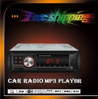 Free Shipping!Car MP3 Player one DIN FM Transmitter for USB/SD/MMC/Slot With remote controller
