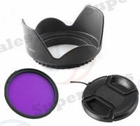 58MM FLD Filter + Lens Hood  + lens cap for Canon EOS 1100D 700D 650D 600D 18-55mm Lens 58 mm Camera Accessory